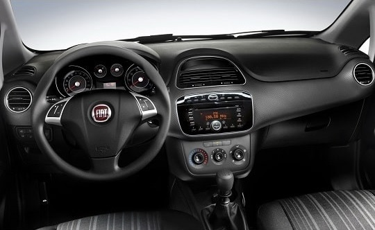 inside view of Fiat Grande Punto with automatic transmission