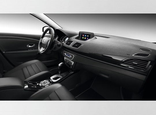 inside view of renault megane with automatic transmission