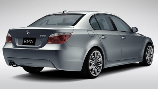 bmw 5 series rear view