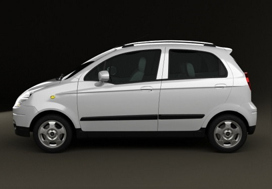 daewoo matiz side view